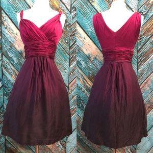 Ann Taylor Ombré Silk Fit & Flare Party Dress